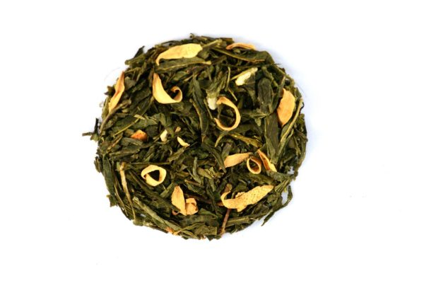 Yuzu Thé vert sencha, notes de yuzu bio