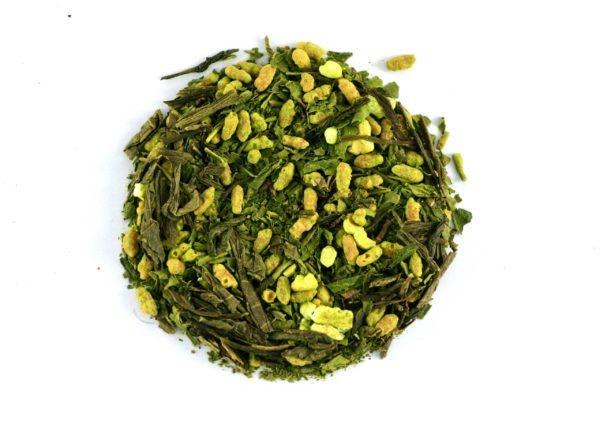 Thé vert japonais matcha genmaicha bio
